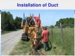 installation of duct1