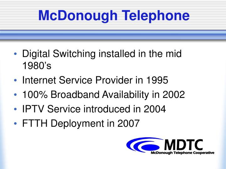 McDonough Telephone