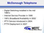 mcdonough telephone1