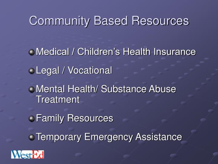 Community Based Resources