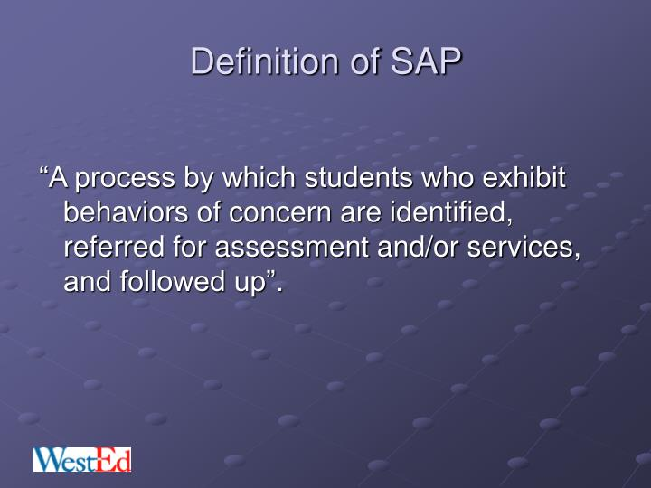 Definition of SAP