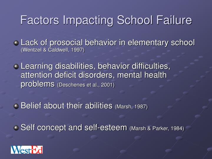 Factors Impacting School Failure