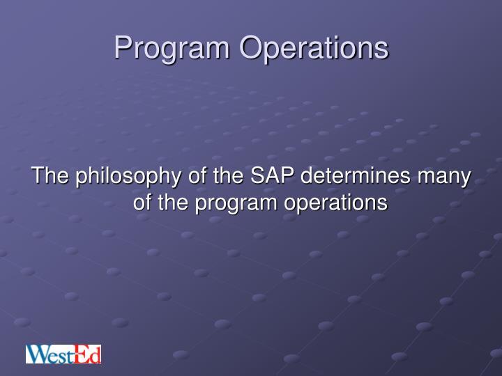 Program Operations