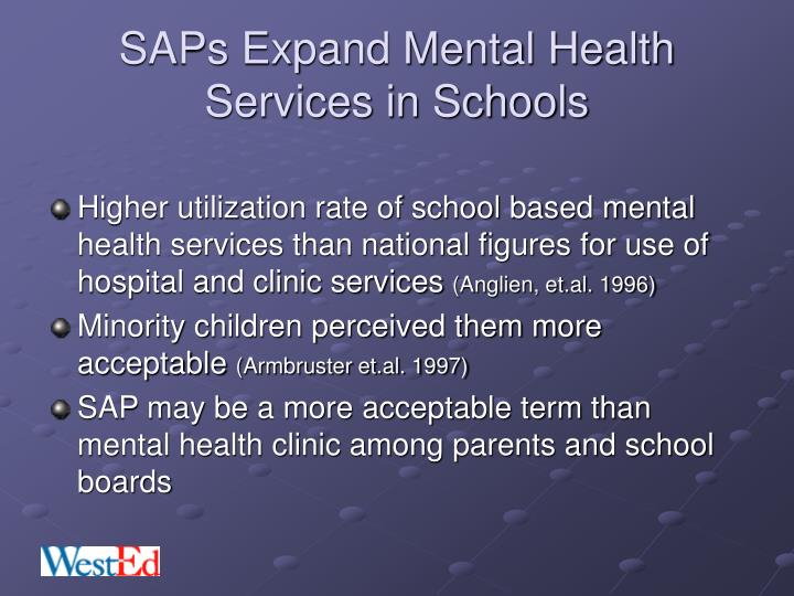 SAPs Expand Mental Health Services in Schools