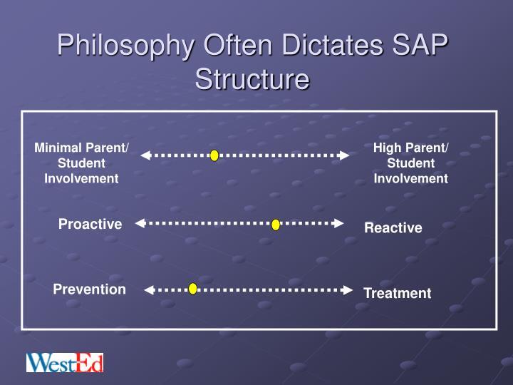 Philosophy Often Dictates SAP Structure