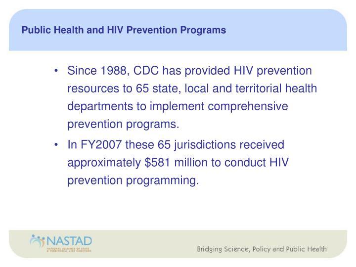 Public Health and HIV Prevention Programs
