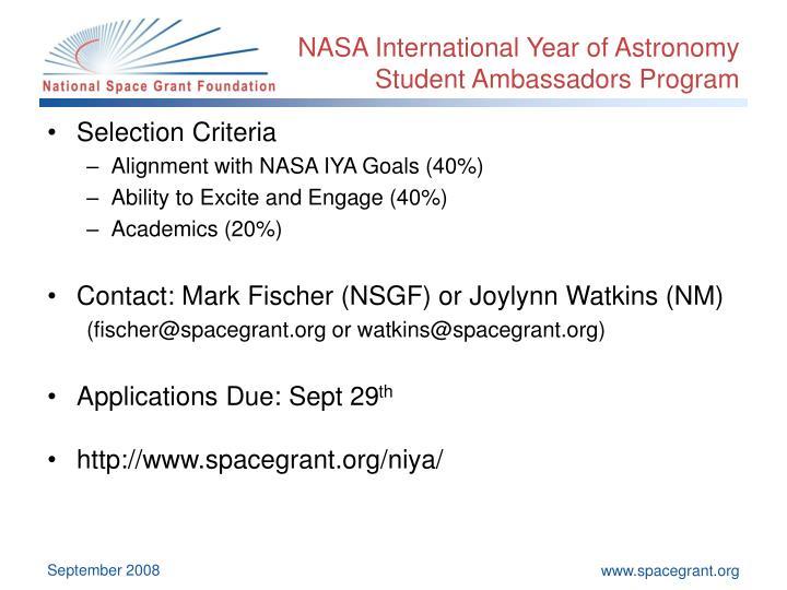NASA International Year of Astronomy
