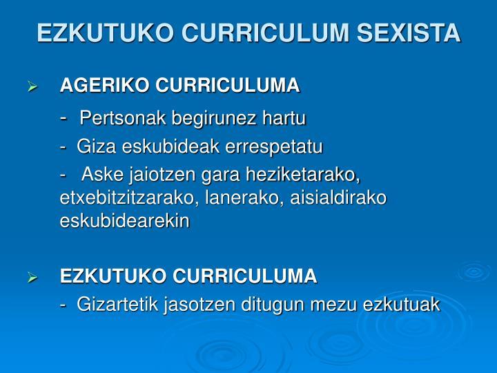 AGERIKO CURRICULUMA
