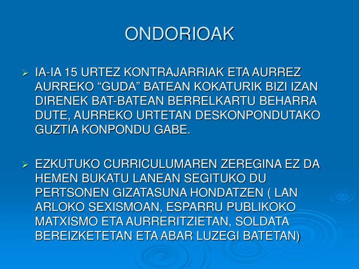 ONDORIOAK