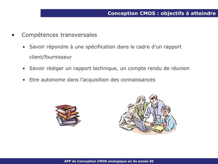 Conception CMOS : objectifs à atteindre