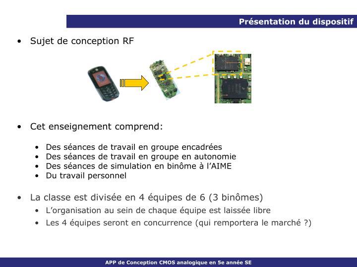 Sujet de conception RF