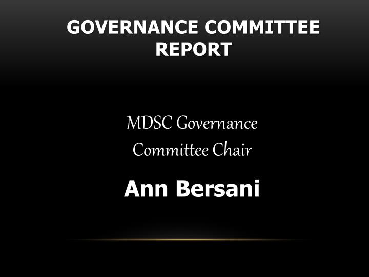 Governance Committee