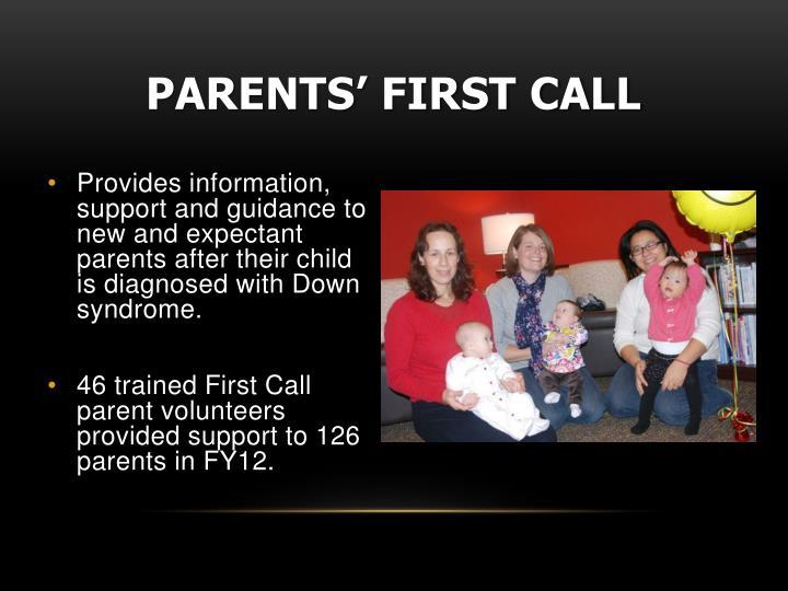 Parents' First Call