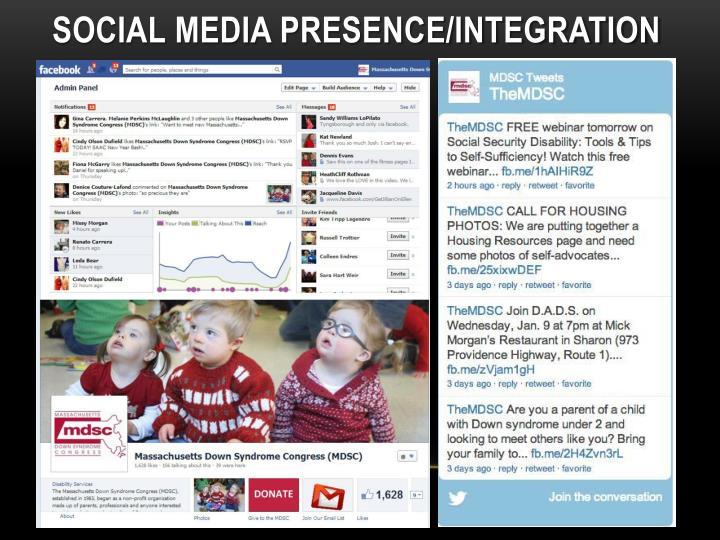 Social Media Presence/Integration