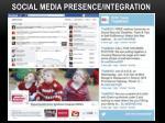 social media presence integration