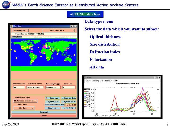 AERONET data base