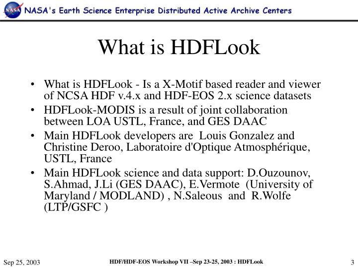 What is hdflook