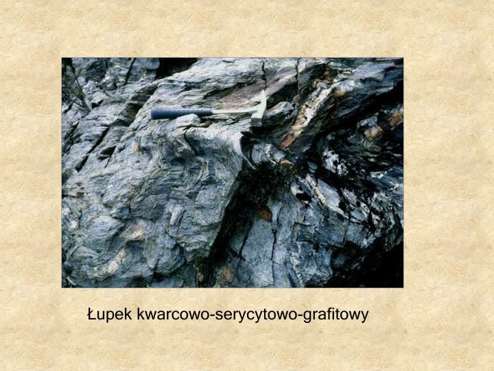 Łupek kwarcowo-serycytowo-grafitowy