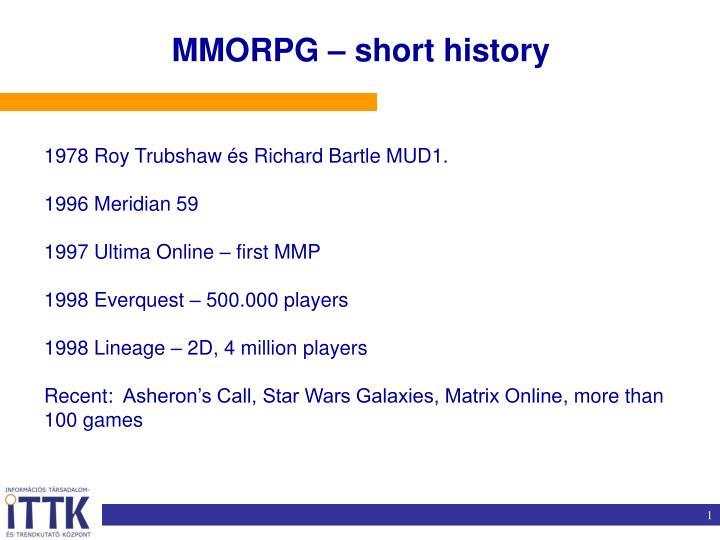 MMORPG – short history