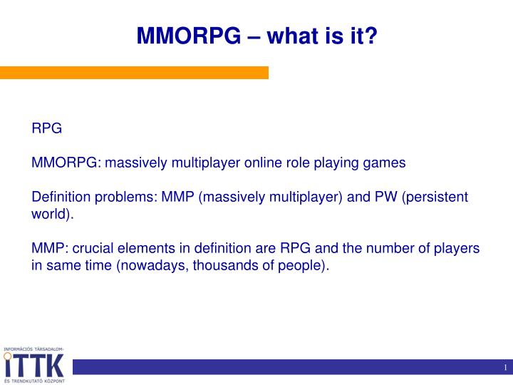 MMORPG – what is it?