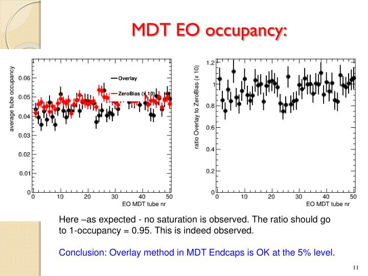 MDT EO occupancy:
