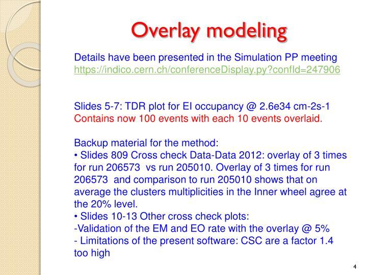 Overlay modeling