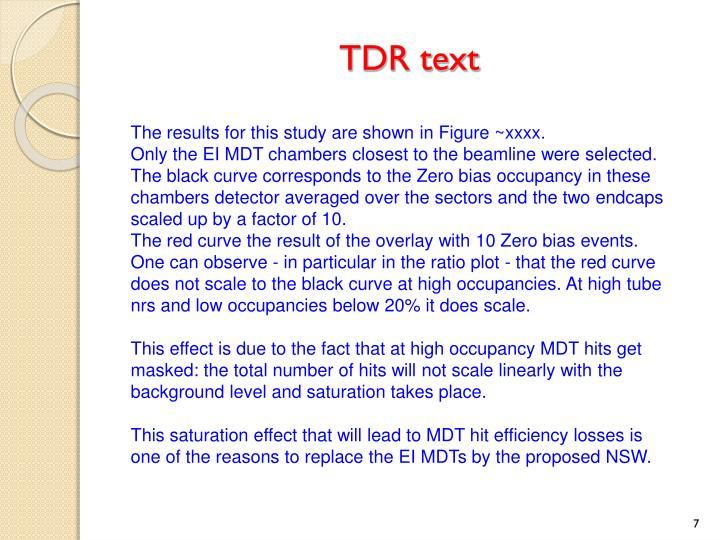 TDR text