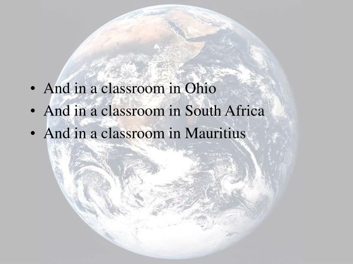 And in a classroom in Ohio