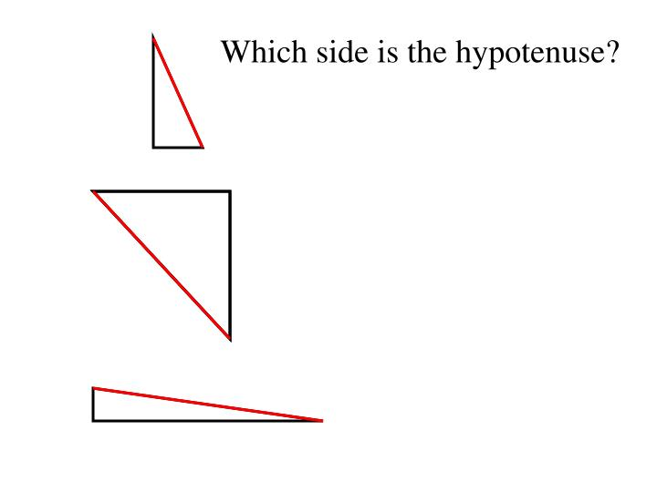 Which side is the hypotenuse?