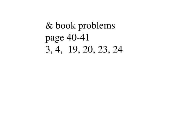 & book problems