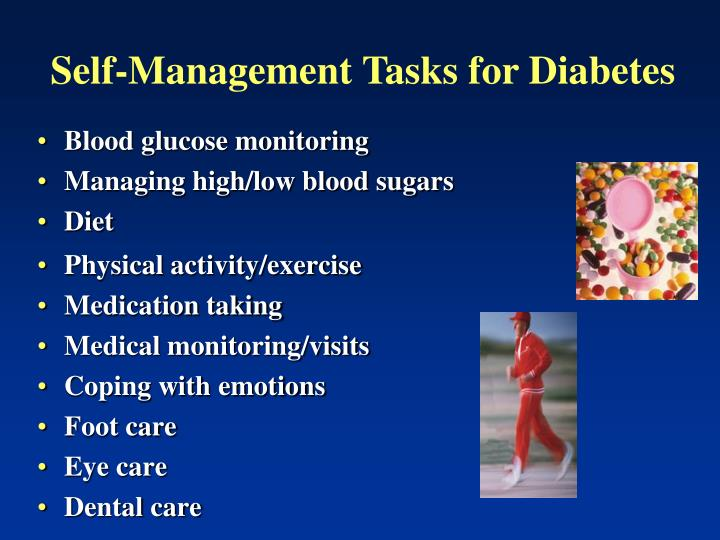Self-Management Tasks for Diabetes