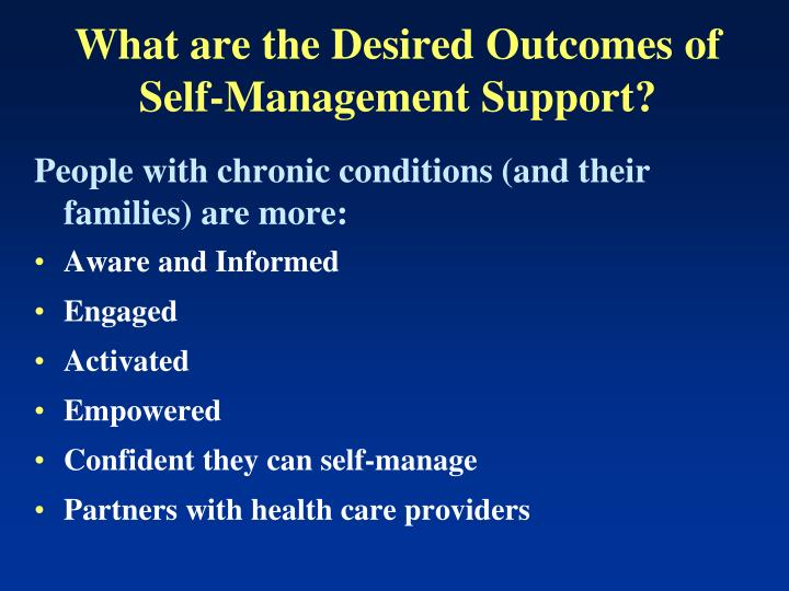 What are the Desired Outcomes of
