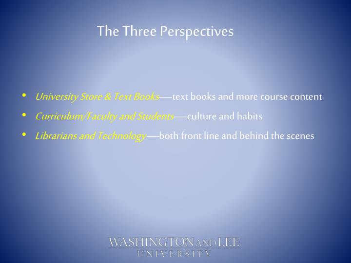 The Three Perspectives
