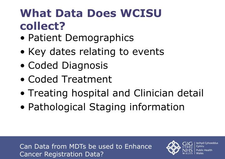 What Data Does WCISU collect?