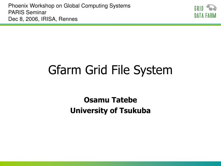 Phoenix Workshop on Global Computing Systems