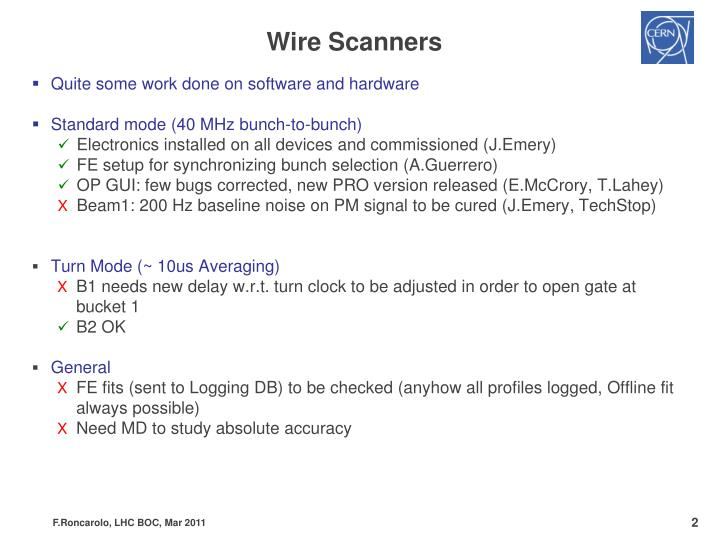 Wire Scanners