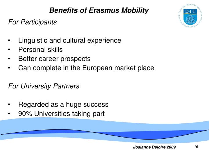 Benefits of Erasmus Mobility