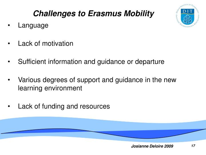 Challenges to Erasmus Mobility
