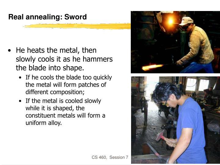Real annealing: Sword