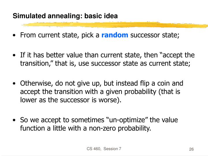 Simulated annealing: basic idea