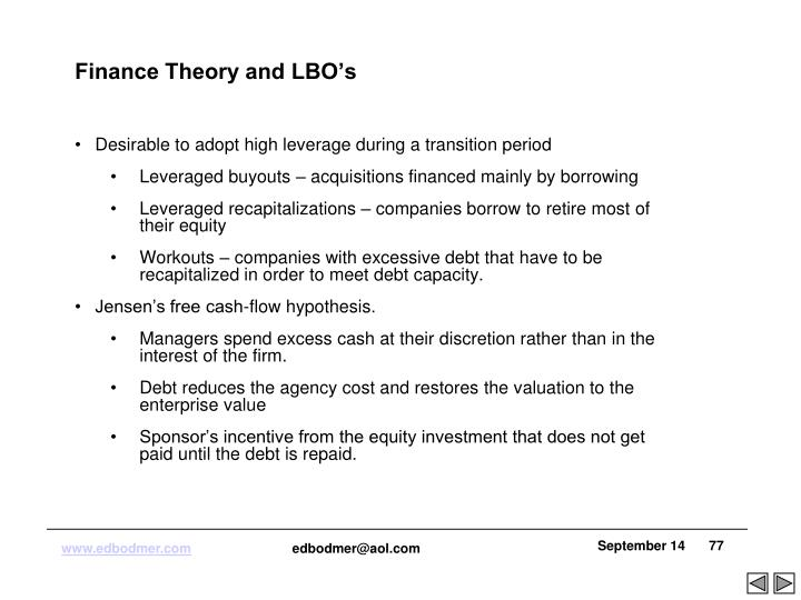 Finance Theory and LBO's