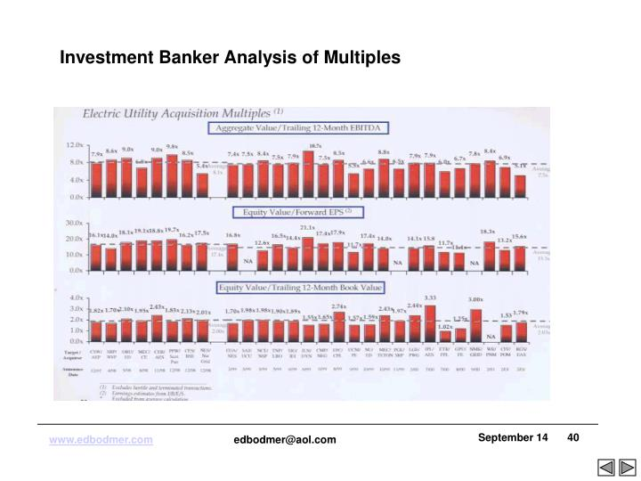 Investment Banker Analysis of Multiples