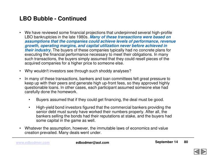 LBO Bubble - Continued