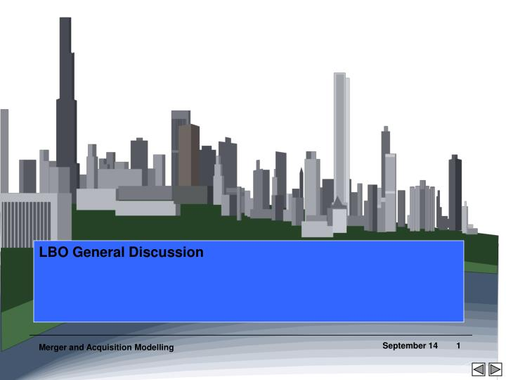 LBO General Discussion