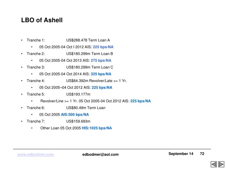 LBO of Ashell