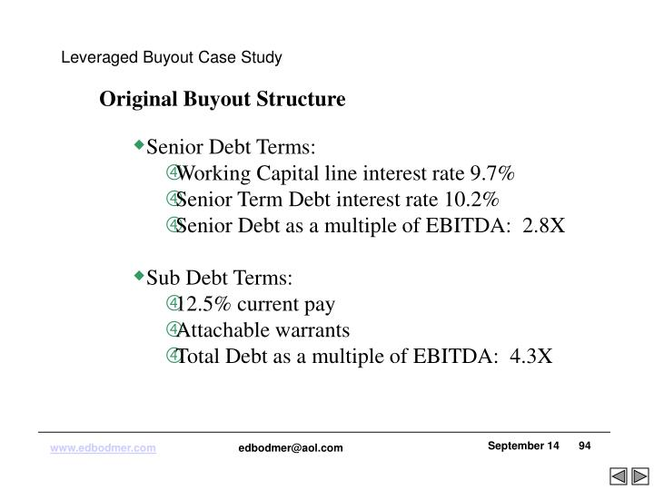 Leveraged Buyout Case Study