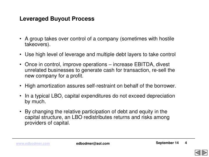 Leveraged Buyout Process
