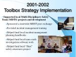 2001 2002 toolbox strategy implementation3