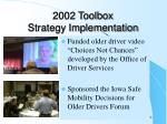 2002 toolbox strategy implementation