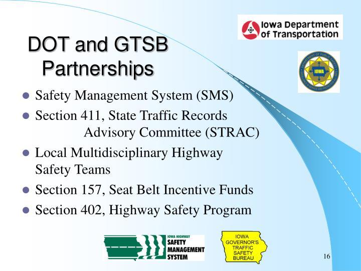 DOT and GTSB